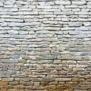 Whitewash Old Stone Wall Poster