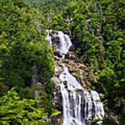 Whitewater Falls Poster by Susan Leggett