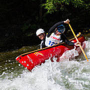 Whitewater Open Canoe Race Poster