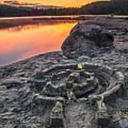 Whonnock Lake Sand Castle Poster