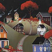 Wickford Village Halloween Ll Poster