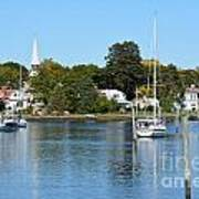Wickford Village Waterfront Poster