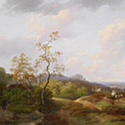 Wide Landscape With Shepherds Poster