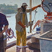 Wieghing The Catch Graymouth Poster