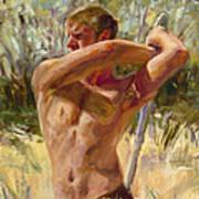 Wielding His Sword Poster