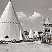 Wigwam Village #2 Coca-cola Sign Marion Post Wolcott  Cave City Kentucky July 1940-2014 Poster