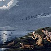 Wild Fowl Shooting, 1820 Poster