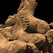 Wild Mustang Statue I I I Poster