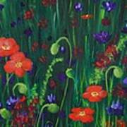 Wild Poppies Poster