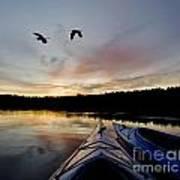 Wilderness Lake Sunset Poster