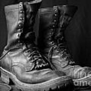 Wildland Fire Boots Still Life Poster