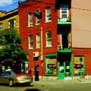 Wilenskys Famous Light Lunch Diner Corner Clark And Fairmount Montreal City Scene Carole Spandau Poster