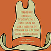Will Rogers Cowboy Hat Poster