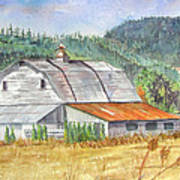 Willamette Valley Barn Poster