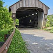 Willard Covered Bridge North Hartland Vermont Poster