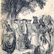 William Penns Treaty With The Indians Poster
