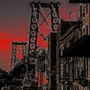 Williamsburg Bridge Abstract Poster