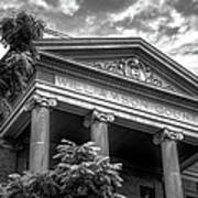 Williamson County Courthouse Bw Poster