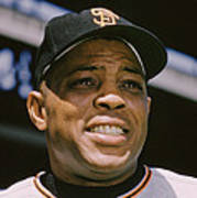 Willie Mays Close-up Poster by Retro Images Archive