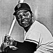 Willie Mays Painting Poster