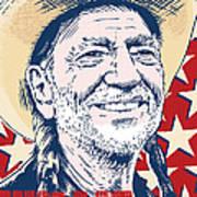 Willie Nelson Pop Art Poster by Jim Zahniser
