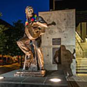 Austin Willie Nelson Statue Poster