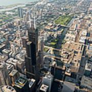 Willis Tower Southwest Chicago Aloft Poster
