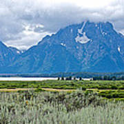 Willow Flats Overlook In Grand Teton National Park-wyoming   Poster