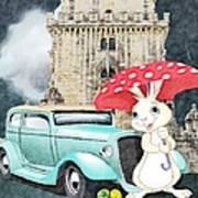 Willy The Wabbit Urrr I Mean Rabbit Poster