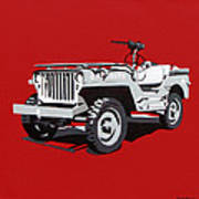 Willys Jeep Poster by Slade Roberts