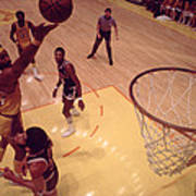 Wilt Chamberlain Finger Roll  Poster by Retro Images Archive