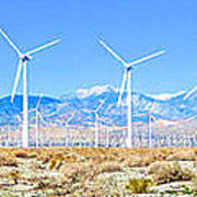 Wind Farm Palm Springs Poster