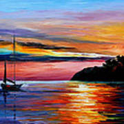 Wind Of Hope - Palette Knife Oil Painting On Canvas By Leonid Afremov Poster