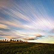 Wind Stream Streaks Poster by Matt Molloy