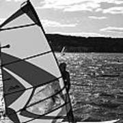 Wind Surfer II Bw Poster