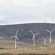 Wind Turbine Power Farm Poster