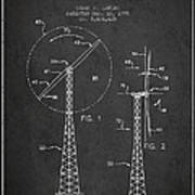 Wind Turbine Rotor Blade Patent From 1995 - Dark Poster