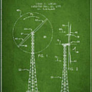 Wind Turbine Rotor Blade Patent From 1995 - Green Poster
