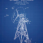 Wind Turbine Speed Control Patent From 1994 - Blueprint Poster