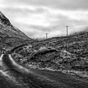 Winding Road In Glen Etive Poster by John Farnan