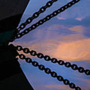 Windjammer Schooner Appledore Bobstays In Abstract Poster
