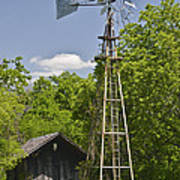 Windmill - Cedar Hill State Park Poster