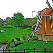 Windmill In A Park In Enkhuizen-netherlands Poster