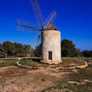 Windmill In El Pilar De La Mola On Formentera Poster