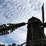 Windmill On A Cloudy Day Poster