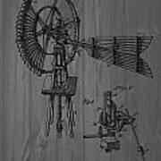 Windmill Patent Barn Wall Poster