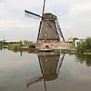 Windmill Reflection Poster