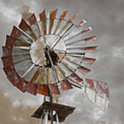 Windmill Poster by Steven  Michael