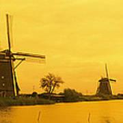 Windmills Netherlands Poster