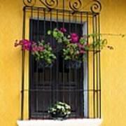 Window At Old Antigua Guatemala Poster